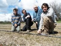 L'équipe de TERRADOC. De gauche à droite : Cyril, Thierry, Dominique et son filsThibaut