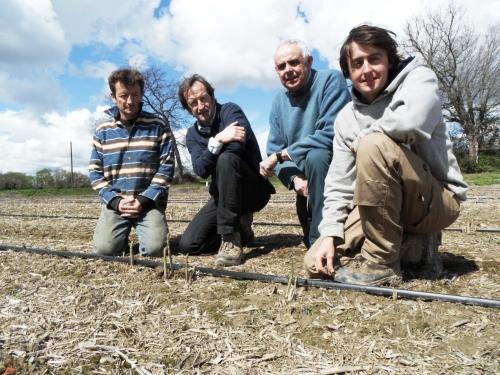 L'équipe de TERRADOC. De gauche à droite : Cyril, Thierry, Dominique et son fils Thibaut