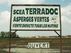 Panneau asperges TERRADOC