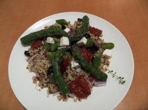 Risotto asperges quinoa